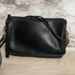 Vintage black petite coach purse